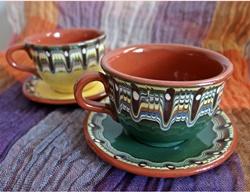 ブルガリアのトロヤン焼き ティーカップ